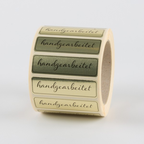 HANDGEARBEITET Etiketten