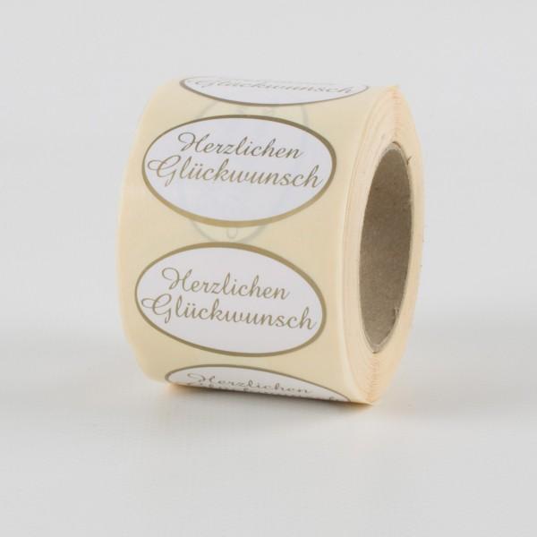 GLÜCKWUNSCH Etiketten