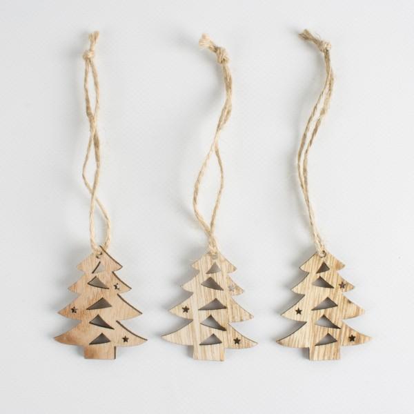 Holz Tannenbaum zum Hängen 50mm