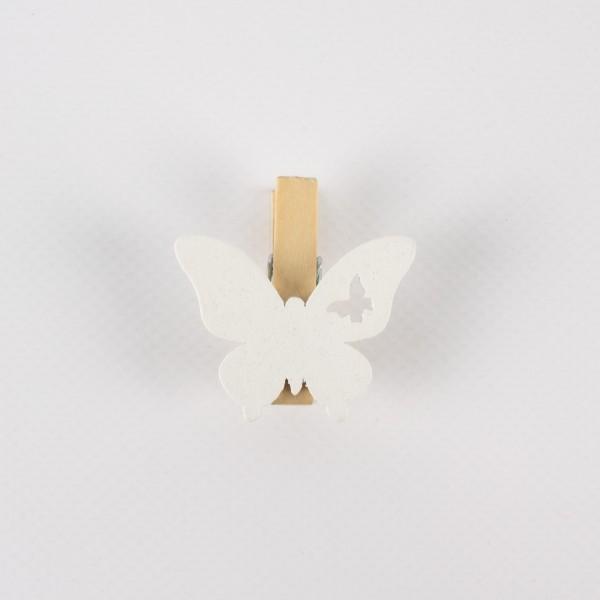Klammer Schmetterling Holz 38mm